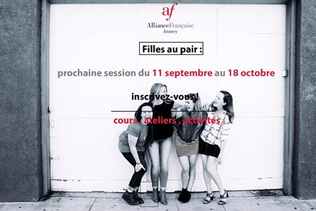 Session filles au Pair septembre -octobre