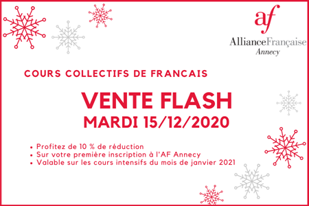 Vente Flash Cours intensifs
